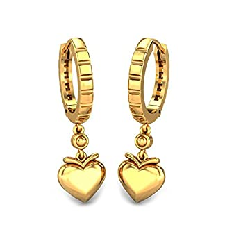 Candere By Kalyan Jewellers 22k (916) Yellow Gold Chiti Hoop Earrings