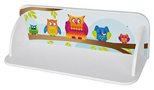 LEOMARK Estante De Pared Para Niños Estantes Estantería Madera Para Los Juguetes y Libros Universal Muebles Para Bebé Impresión Colorida De Alta Calidad Búhos