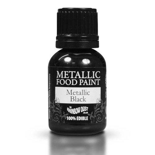 Cakes Supplies - Peinture Alimentaire Metallique Noir 25Ml