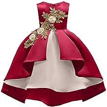 YuFLangel Vestido de Fiesta de Bodas de cumpleaños para niñas Baile de Gala Vestido de Dama
