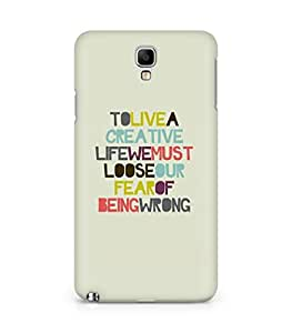 Amez designer printed 3d premium high quality back case cover for Samsung Galaxy Note 3 Neo (To Live Creative Life)