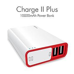 Portronics POR-386 Charge II Plus 10000 mAh Power Bank ( White )