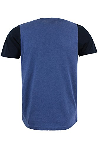 Brave Soul Herren T-Shirt Blue Marl   Dark Navy Blue