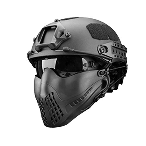 332PageAnn Masque Tactique extérieur Système de Bandeau à Deux Modes, Masque de Protection Tactique Visage Inférieure pour la Chasse Paintball Military Cosplay Movie Prop