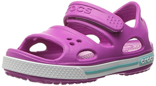 Crocs crocband ii kids, sandali con cinturino alla caviglia unisex-bambini, viola (vibrant violet/white), 34/35 eu