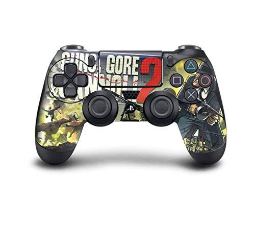 PS4 DualShock Wireless Controller Pro Konsole PlayStation4 Controller mit weichem Griff und exklusiver individueller Version Skin (PS4-Guns Gore und Cannoli 2) (Griffe Custom Gun)
