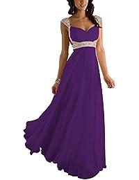 Erosebridal Formal Chiffon Lange Brautjungfernkleider Abendkleid