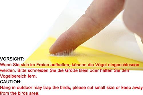 Plai 30 Stück Fliegenfänger Sticker inkl. 30 Kabelbinder - 3