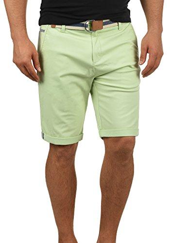 !Solid Monty Herren Chino Shorts Bermuda Kurze Hose Mit Gürtel Aus Stretch-Material Regular-Fit, Größe:S, Farbe:Seacrest (3051) (Designer Herren Gürtel)