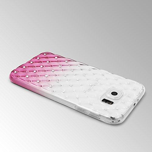 URCOVER Coque Back-case Housse Glittery Diamant pour Apple iPhone 7 Plus | Étui avec Strass Scintillantes et Pailletté en Silicone TPU Souple in Transparente Jaune