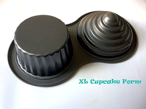Foto de Fortuna Cupcake XL para hornear Muffin–Molde chapa Forma magdalenas forma megacupcake