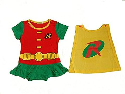 Costume Robin Rouge - Robin Caped bébé fille grenouillère/Party Fancy