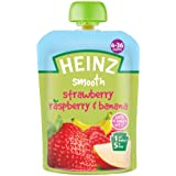 Heinz Strawberry/ Raspberry and Banana Fruit Pouch 4-36 Months 100 g (Pack of 6)