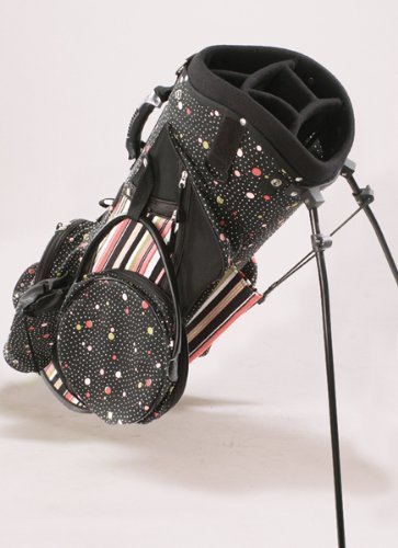 sassy-caddy-womens-flirty-golf-stand-bag-hot-pink-light-pink-black-white-by-sassy-caddy-inc