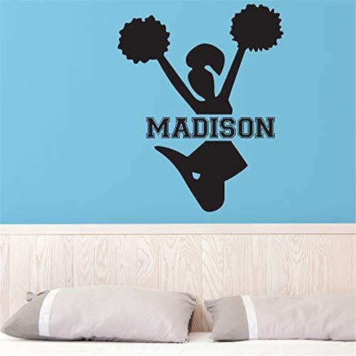 wandaufkleber 3d Wandtattoo Wohnzimmer Cheerleading Mädchen Schlafzimmer Wohnkultur Kundenspezifische Name Aufkleber Für Wohnzimmer Schlafzimmer Mädchen Schlafzimmer
