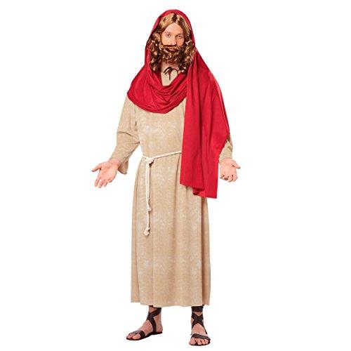 MyPartyShirt Jesus Erwachsenen Kostüm Christ Biblische Bibel Christian Weihnachten Religiöse Fancy Kleid (Für Bibel-kostüme Erwachsene)