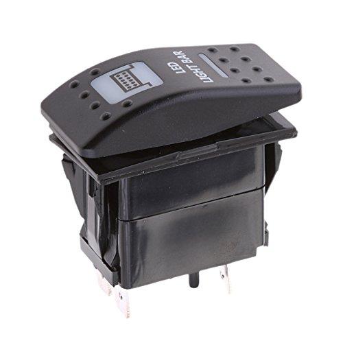 H HILABEE 12V 20A Beleuchteter Wippschalter EIN/AUS Schalter Lichtschalter für UTV Boot Auto Truck Maschinen Traktor -