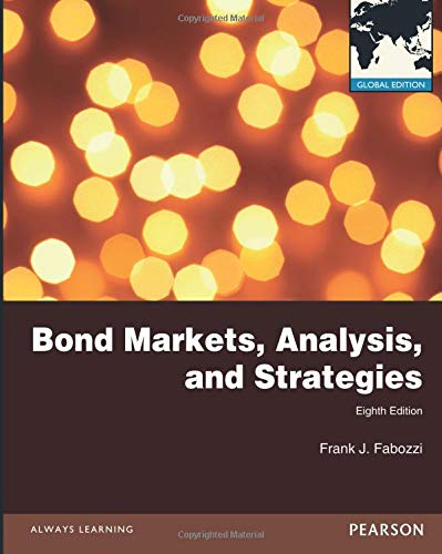 Bond Markets, Analysis and Strategies