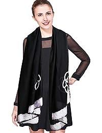vari stili godere di un prezzo economico negozio di sconto Amazon.it: foulard di seta - Nero / Sciarpe e stole ...