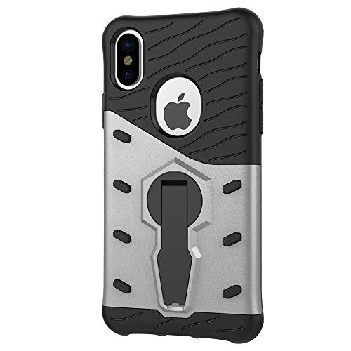 Meimeiwu Armatura Custodia Cover Doppio Strato TPU + PC Antiurto Protezione Goccia Difensore Custodia Protettiva Case per iPhone 8 - Oro Argento