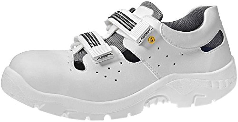 Abeba 2616 – 36 Anatom – Zapatos de seguridad sandalia, Blanco, 2616-48