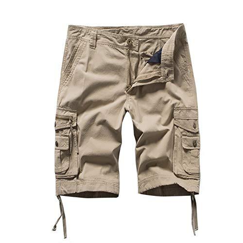 Timberland-herren-shorts (Xmiral Shorts Herren Reißverschluss Overall Streifen Kurze Hose Mit Taschen Sports Hose Training Shorts Fitness Beachshorts(Gelb,XL))