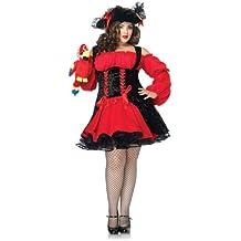 Leg Avenue - Disfraz de moza pirata , talla UK 18 - 20 (Sexy Del Wench Del Pirata)