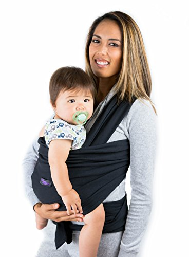 black-baby-wrap-carrier-breathable-sling-carry-bag-safe-comfortable-quality-material