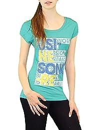 S&LU angesagtes Damen-Shirt mit aufwendiger Kettenverzierung Einheitsgrößen S/M und L/XL