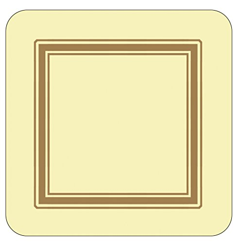 Pimpernel Classic Cream Coasters - Set of 6 by Pimpernel Pimpernel Classic Cream