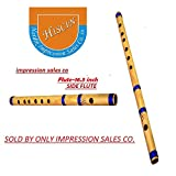 #10: ISC Bamboo Natural Flute Bansuri GG Type Transverse Style for Deep Low Frequency Sonorous Notes 17Inch (Brown)