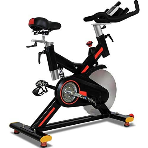 41 bR FMYmL. SS500  - Indoor Cycling Bicycle Trainers Magnetic Resistance Belt Driven With Spring Shock Absorption 20 Kg Flywheel With Multifunctional Display & Tablet Holder Adjustable Seat Height For Men & Women