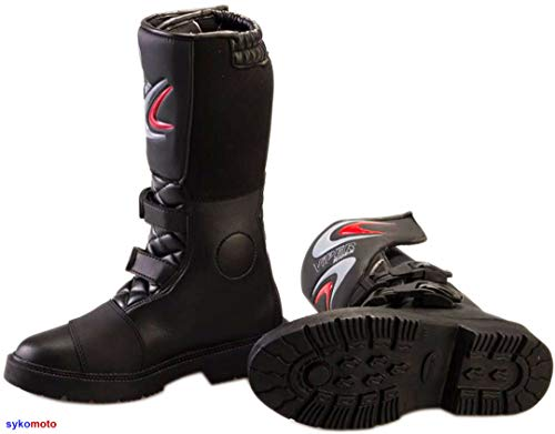 DER VIPER K156 SPORTS RACING MX MOTOCROSS ENDURO OFF ROAD SCHUHE JUNIOR SCHWARZ (03 UK/EU 36) ()