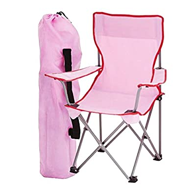 simpa 2 x Childrens Folding Camping Chairs - Avaibale in Pink, Blue or Assortment Coloured Sets - Fishing Hiking Picnic Garden Collapsible Outdoor With Carrying Bag. by Simpa