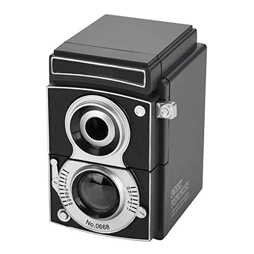 Mugast temperamatite manuale, portatile retro fotocamera manovella standard temperamatite, temperamatite antiscivolo temperamatite temperamatite per bambini scuola domestica ufficio nero
