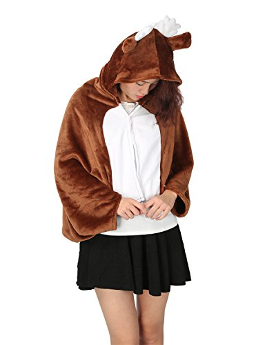 LATH.PIN Unisex Cape Anime Cosplay Poncho Cloak Tier -