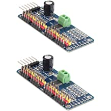 HiLetgo® 2pcs PCA9685 16 canales de 12 bits PWM Servo Motor Driver IIC Módulo para