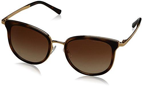Michael Kors Damen ADRIANNA I 110113 54 Sonnenbrille, Dk Tortoise/Gold/Browngradient,