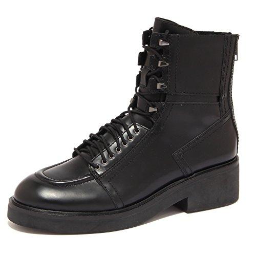 6160R stivale donna ASH NEAL scarpa biker nero boot shoe woman Nero
