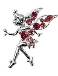 Acosta - cristal rosa Tinkerbell - broche de estilo de hadas