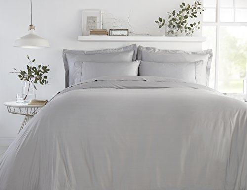 100% Bamboo Bed Linen – Luxury Pillowcases – Oxford Style (Set of 2) (Soft Grey)