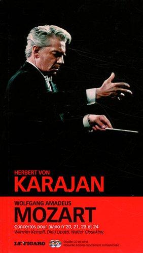 Wolfgang Amadeus Mozart - tome 2: Concertos pour piano n°20, n°21, n°23, n°24. Wilhelm Kempff, Dinu Lipatti, Walter Gieseking. Double cd et livret. par  Herbert von Karajan