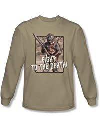 Star Trek - Mens To The Death Long Sleeve Shirt In Sand