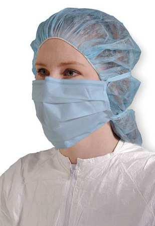 Cleanroom Mask, Universal, Blue, PK500