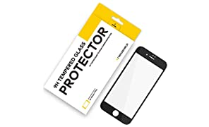 RhinoShield Screen Protector FOR IPHONE 8 Plus/IPHONE 7 Plus [9H 3D CURVED EDGE] To Edge Tempered Glass | Full Coverage Clear and Scratch Resistant Screen Protection Black