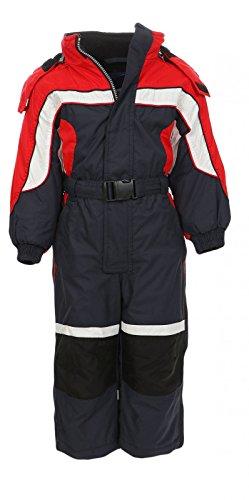 PM LC1118 niños traje de esquí al aire libre para niños y niñas Traje funcional Hardshell traje de nieve Invierno (80, marino)