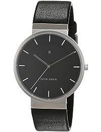 Jacob Jensen Herren-reloj analógico de pulsera de cuarzo cuero Dimensión Series Item No.: 880