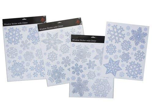 Toyland Glänzende Schneeflocke-Fensteraufkleber Für die Eingefrorene Themed Partei (PM14)