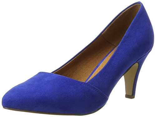 Bianco Damen Basic Loafer Pump 24-49217 Pumps Blau (Blue)