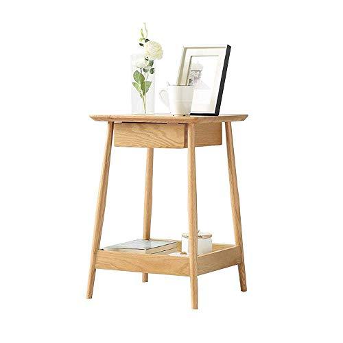 BinLZ-Table Schlafzimmer Beistelltisch Schließfächer Nachttisch mit Schubladen Akzent Tisch Forliving Room 16,1 × 16,1 × 24 Zoll -